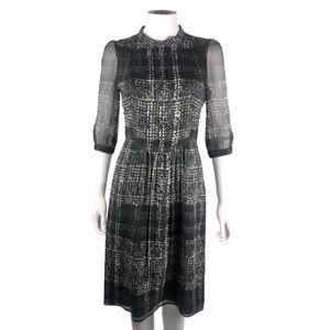 Burberry silk plaid printed dress